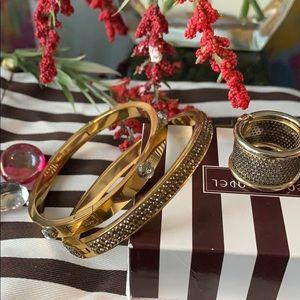 Henri Bendel Bracelets and ring w dust bag